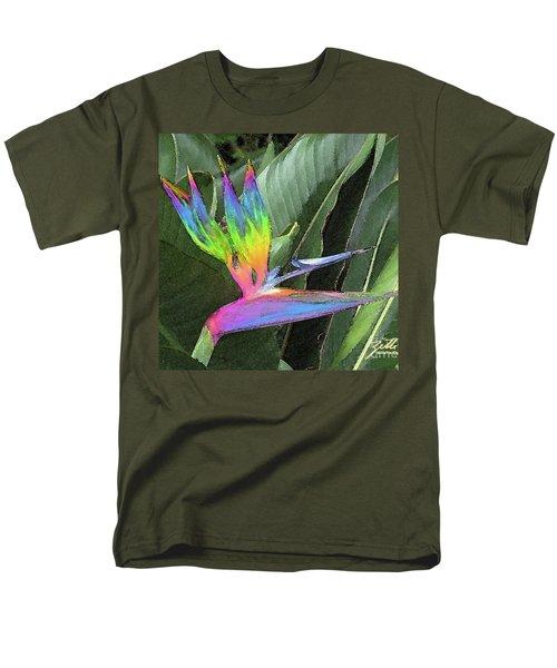 Men's T-Shirt  (Regular Fit) featuring the photograph Bird Ow  Paradise by Suzette Kallen