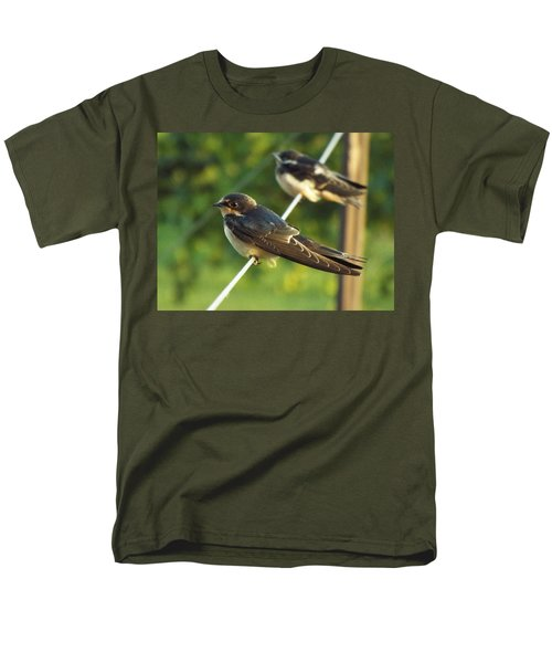 Birds On A Wire Men's T-Shirt  (Regular Fit)