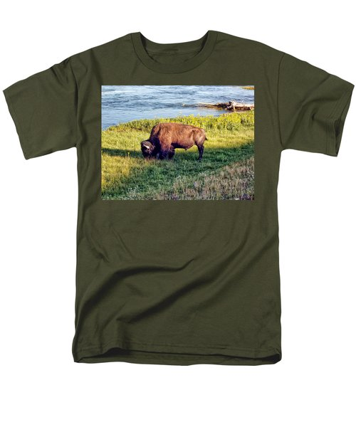 Men's T-Shirt  (Regular Fit) featuring the photograph Bison 4 by Dawn Eshelman