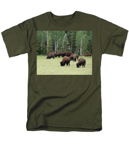 Bison At North Rim Men's T-Shirt  (Regular Fit) by Laurel Powell