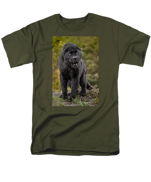 Black Panther Men's T-Shirt  (Regular Fit) by Jerry Fornarotto