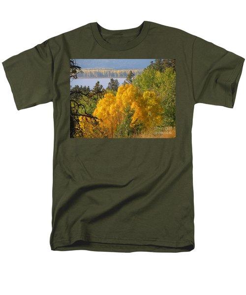 Blazing Yellow Men's T-Shirt  (Regular Fit) by Leone Lund