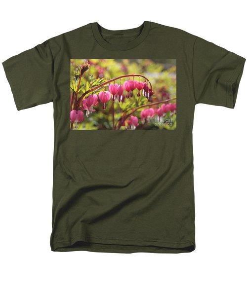 Bleeding Heart Men's T-Shirt  (Regular Fit) by Barbara Bardzik