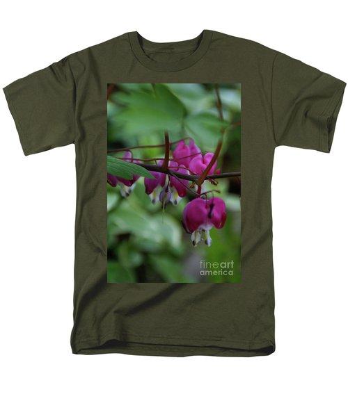 Men's T-Shirt  (Regular Fit) featuring the photograph Bleeding Heart by Linda Shafer