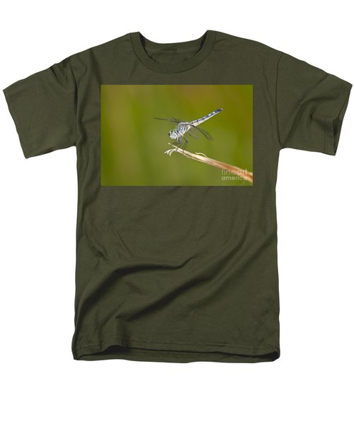 Men's T-Shirt  (Regular Fit) featuring the photograph Blue Dasher On The Edge by Bryan Keil