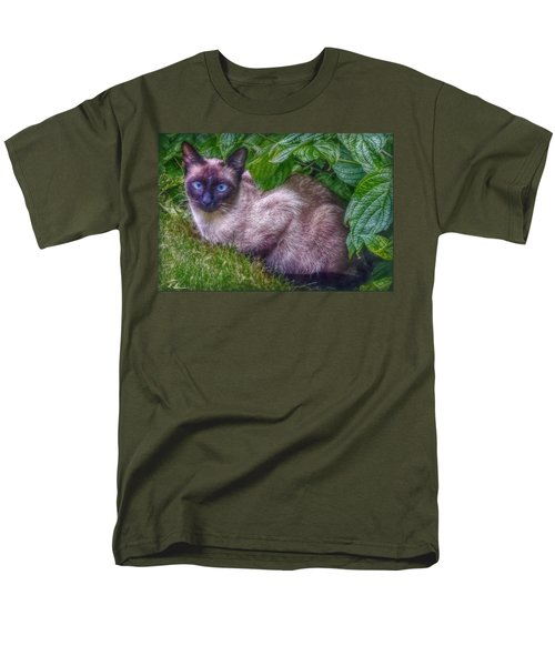Men's T-Shirt  (Regular Fit) featuring the photograph Blue Eyes - Signed by Hanny Heim