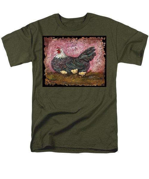 Blue Hen With Chicks Fresco Men's T-Shirt  (Regular Fit)