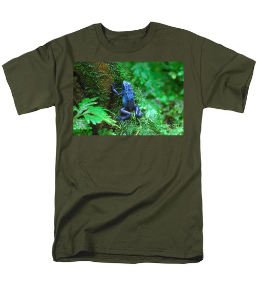 Blue Poison Dart Frog Men's T-Shirt  (Regular Fit) by DejaVu Designs