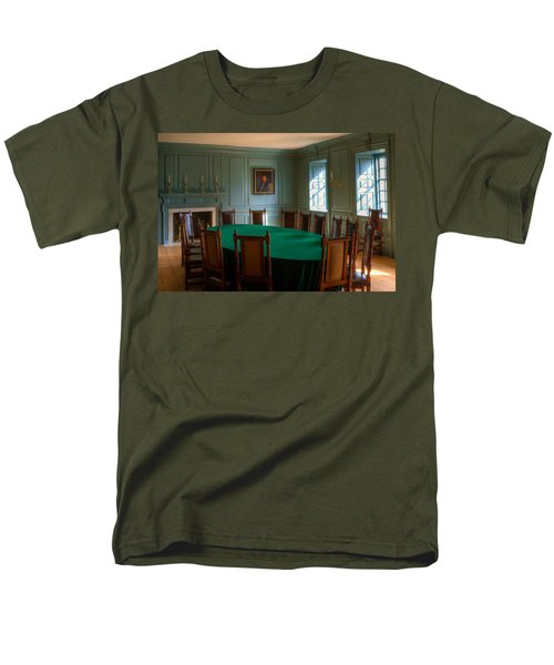 Men's T-Shirt  (Regular Fit) featuring the photograph Blue Room 2 Wren Building by Jerry Gammon