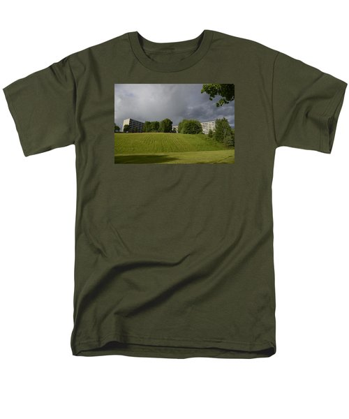 Men's T-Shirt  (Regular Fit) featuring the photograph Blue Visions 3 by Teo SITCHET-KANDA