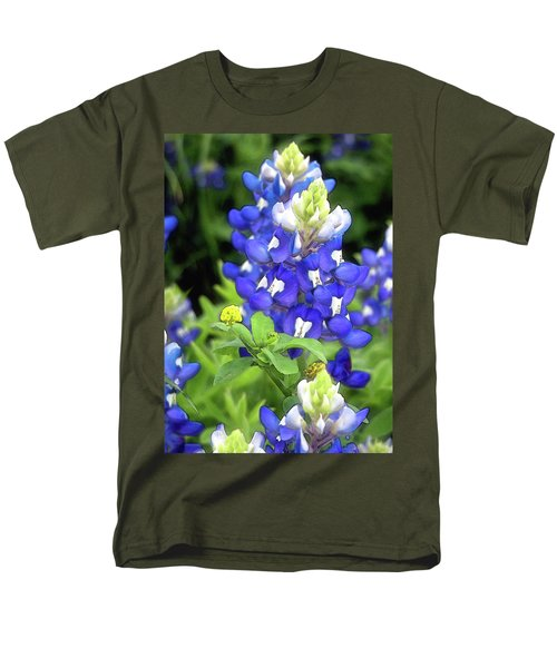 Bluebonnets Blooming Men's T-Shirt  (Regular Fit) by Stephen Anderson