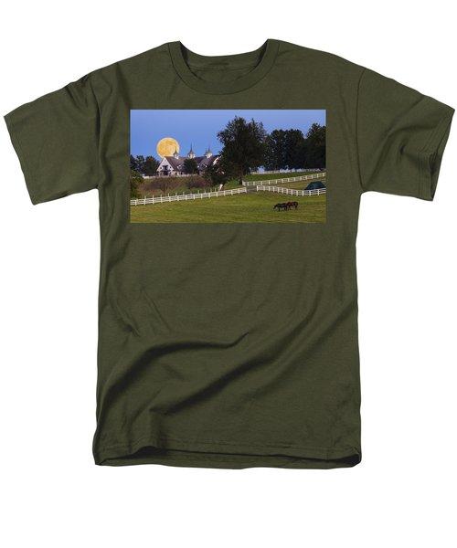 Bluegrass Moonrise Men's T-Shirt  (Regular Fit) by Alexey Stiop