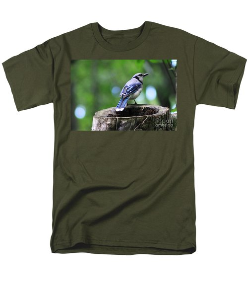 Men's T-Shirt  (Regular Fit) featuring the photograph Bluejay by Alyce Taylor