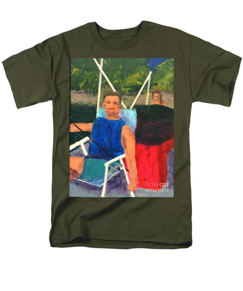 Men's T-Shirt  (Regular Fit) featuring the painting Boating by Donald J Ryker III
