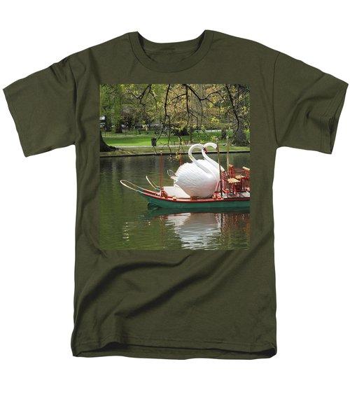 Men's T-Shirt  (Regular Fit) featuring the photograph Boston Swan Boats by Barbara McDevitt