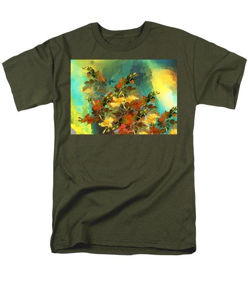 Men's T-Shirt  (Regular Fit) featuring the digital art Botanical Fantasy 090914 by David Lane