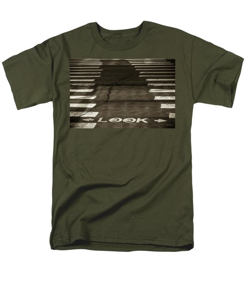 Men's T-Shirt  (Regular Fit) featuring the photograph Both Ways - Urban Abstracts by Steven Milner