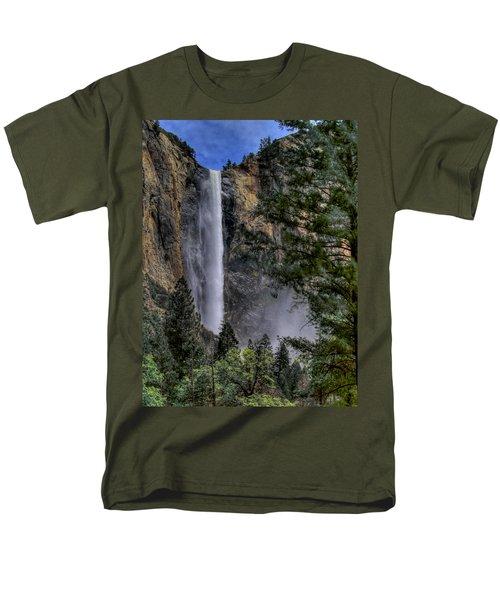 Bridalveil Falls Men's T-Shirt  (Regular Fit) by Bill Gallagher