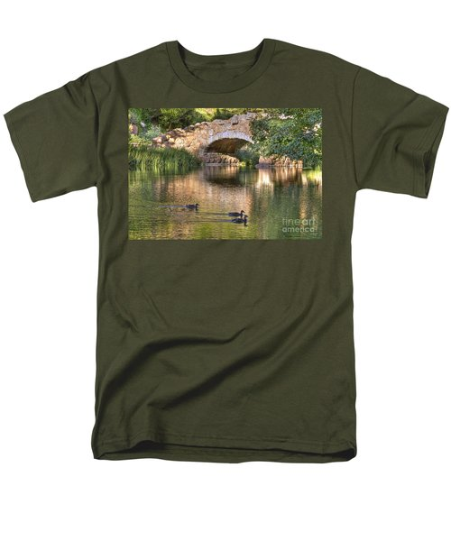 Men's T-Shirt  (Regular Fit) featuring the photograph Bridge At Stow Lake by Kate Brown
