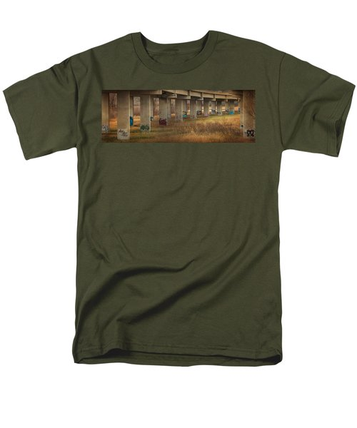 Men's T-Shirt  (Regular Fit) featuring the photograph Bridge Graffiti by Patti Deters