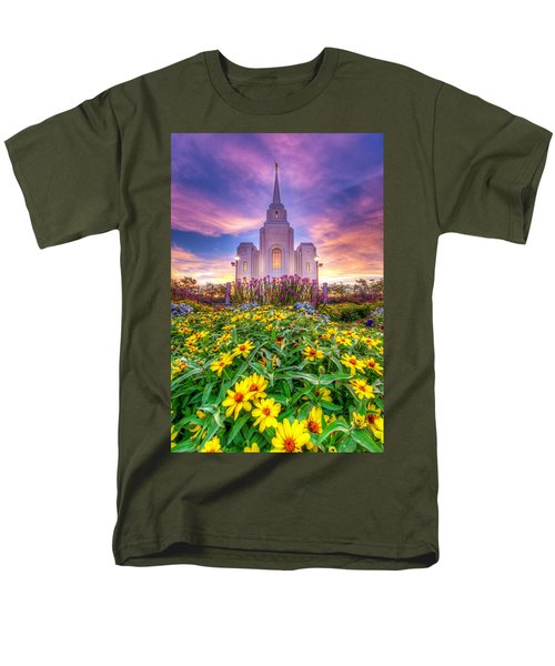 Brigham City Temple Men's T-Shirt  (Regular Fit) by Dustin  LeFevre