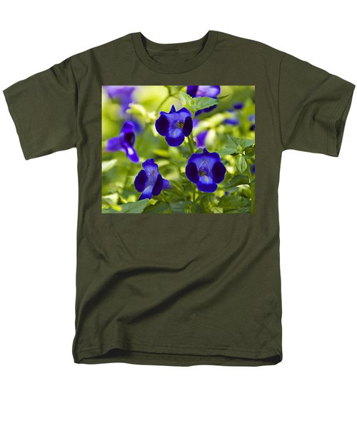 Brilliant Blues  Men's T-Shirt  (Regular Fit) by Walter Herrit