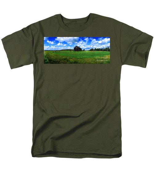 Brimley Farm Near  Sault Ste Marie Michigan  Men's T-Shirt  (Regular Fit) by Tom Jelen