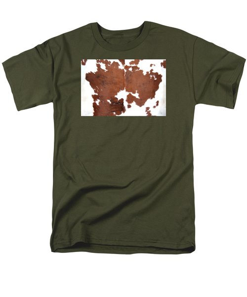 Men's T-Shirt  (Regular Fit) featuring the photograph Brown Cowhide by Gunter Nezhoda