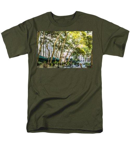 Bryant Park Midtown New York Usa Men's T-Shirt  (Regular Fit) by Liz Leyden