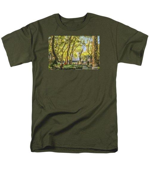 Bryant Park October Morning Men's T-Shirt  (Regular Fit) by Liz Leyden