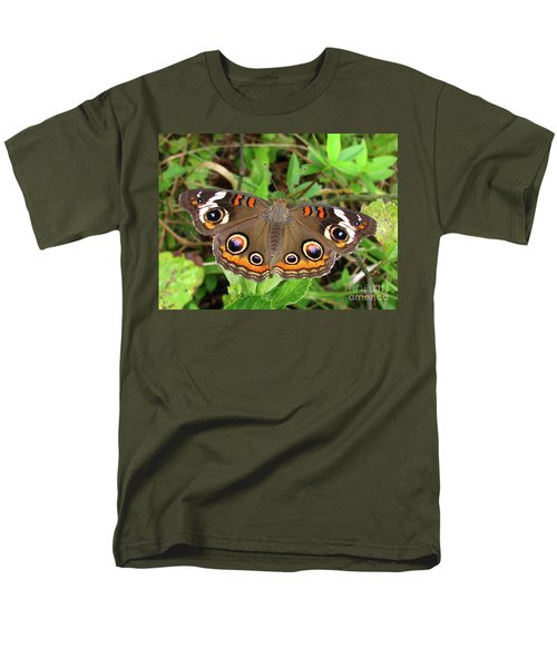 Men's T-Shirt  (Regular Fit) featuring the photograph Buckeye Butterfly by Donna Brown