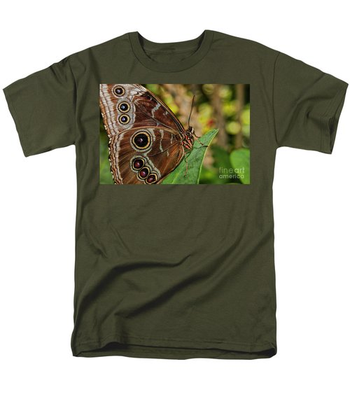 Men's T-Shirt  (Regular Fit) featuring the photograph Blue Morpho Butterfly by Olga Hamilton
