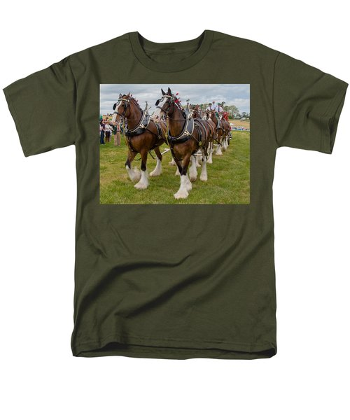 Budweiser Clydesdales Men's T-Shirt  (Regular Fit) by Robert L Jackson