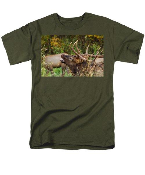 Bugling Bull Elk Men's T-Shirt  (Regular Fit) by Patrick Shupert