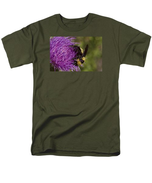Bumble Bee On Thistle Men's T-Shirt  (Regular Fit) by Shelly Gunderson