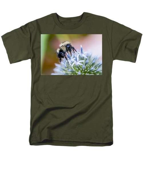 Bumblebee On Thistle Blossom Men's T-Shirt  (Regular Fit) by Marty Saccone