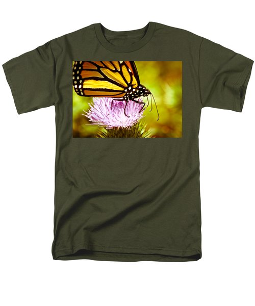 Men's T-Shirt  (Regular Fit) featuring the photograph Busy Butterfly by Cheryl Baxter