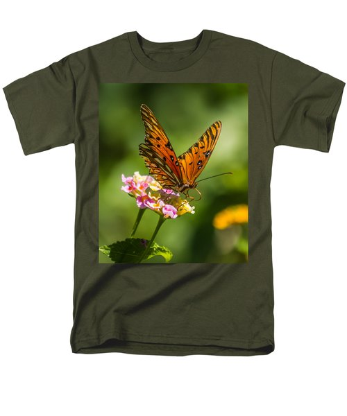 Busy Butterfly Men's T-Shirt  (Regular Fit) by Jane Luxton