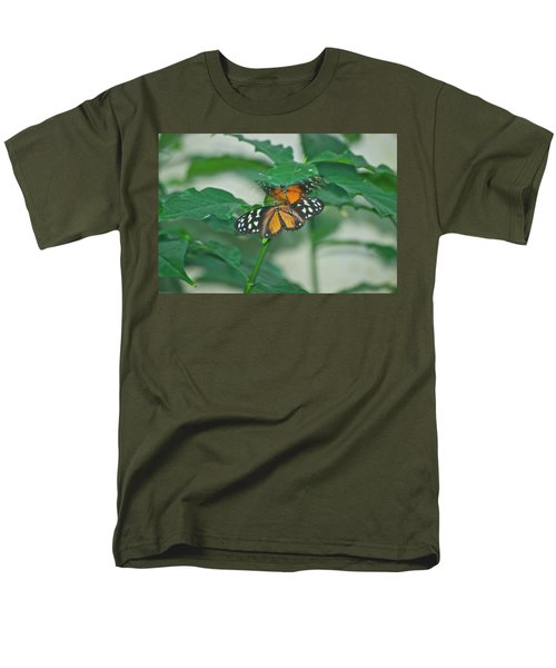 Men's T-Shirt  (Regular Fit) featuring the photograph Butterflies Gentle Touch by Thomas Woolworth