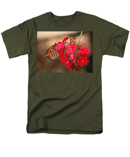 Men's T-Shirt  (Regular Fit) featuring the photograph Butterfly 1 by Leticia Latocki