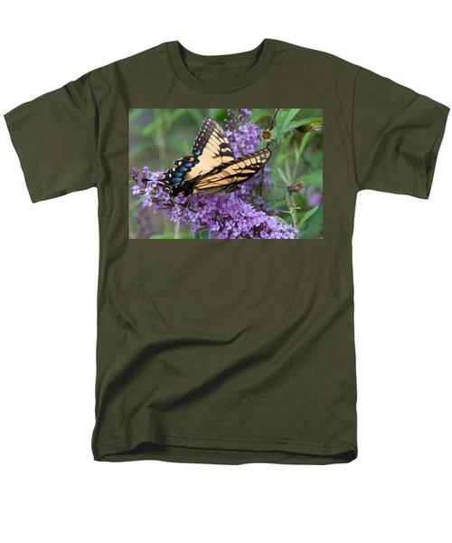 Men's T-Shirt  (Regular Fit) featuring the photograph Butterfly Landing by Greg Graham
