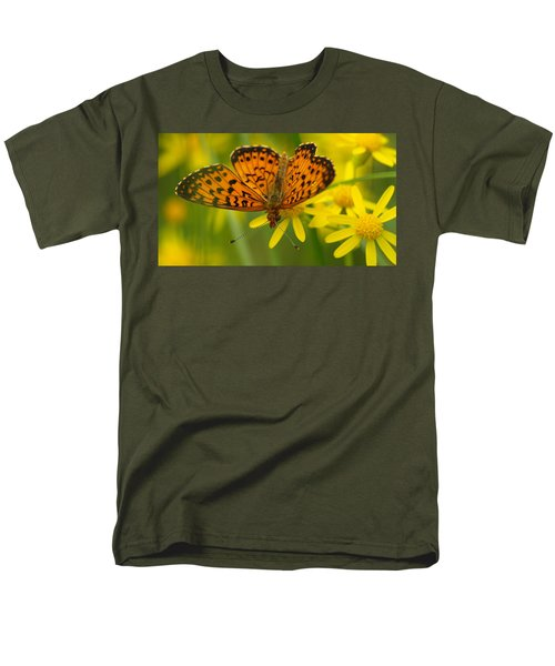 Men's T-Shirt  (Regular Fit) featuring the photograph Butterfly by James Peterson