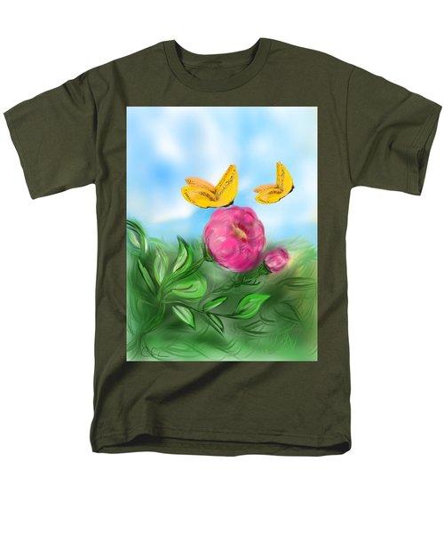 Men's T-Shirt  (Regular Fit) featuring the digital art Butterfly Twins by Christine Fournier