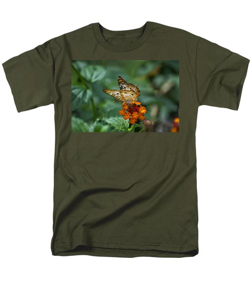 Men's T-Shirt  (Regular Fit) featuring the photograph Butterfly Wings Of Sun Light by Thomas Woolworth