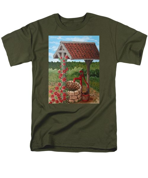 Men's T-Shirt  (Regular Fit) featuring the painting By The Water Pump by Katherine Young-Beck