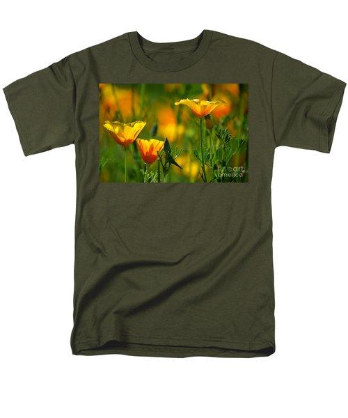 California Poppies Men's T-Shirt  (Regular Fit) by Deb Halloran