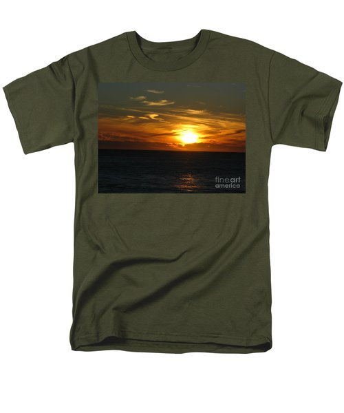 California Winter Sunset Men's T-Shirt  (Regular Fit) by Mini Arora
