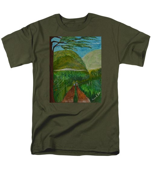 Men's T-Shirt  (Regular Fit) featuring the painting Called To The Mission Field by Cassie Sears