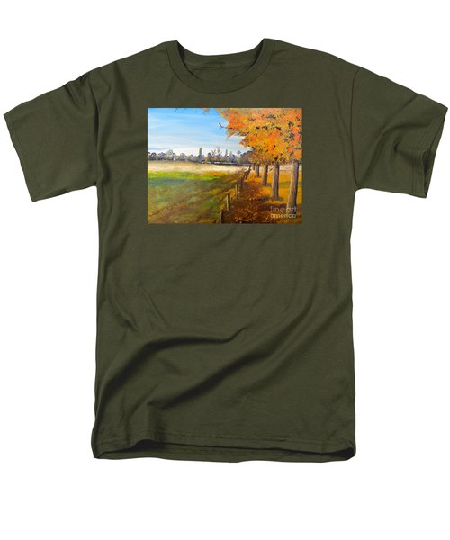 Men's T-Shirt  (Regular Fit) featuring the painting Camden Farm by Pamela  Meredith
