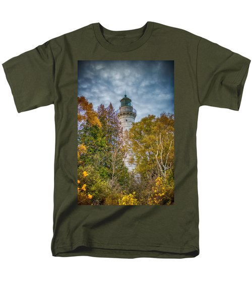 Cana Island Lighthouse II By Paul Freidlund Men's T-Shirt  (Regular Fit) by Paul Freidlund